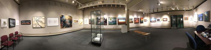 Panoramic of Gallery Exhibition, Landscapes Through Michigan Eyes